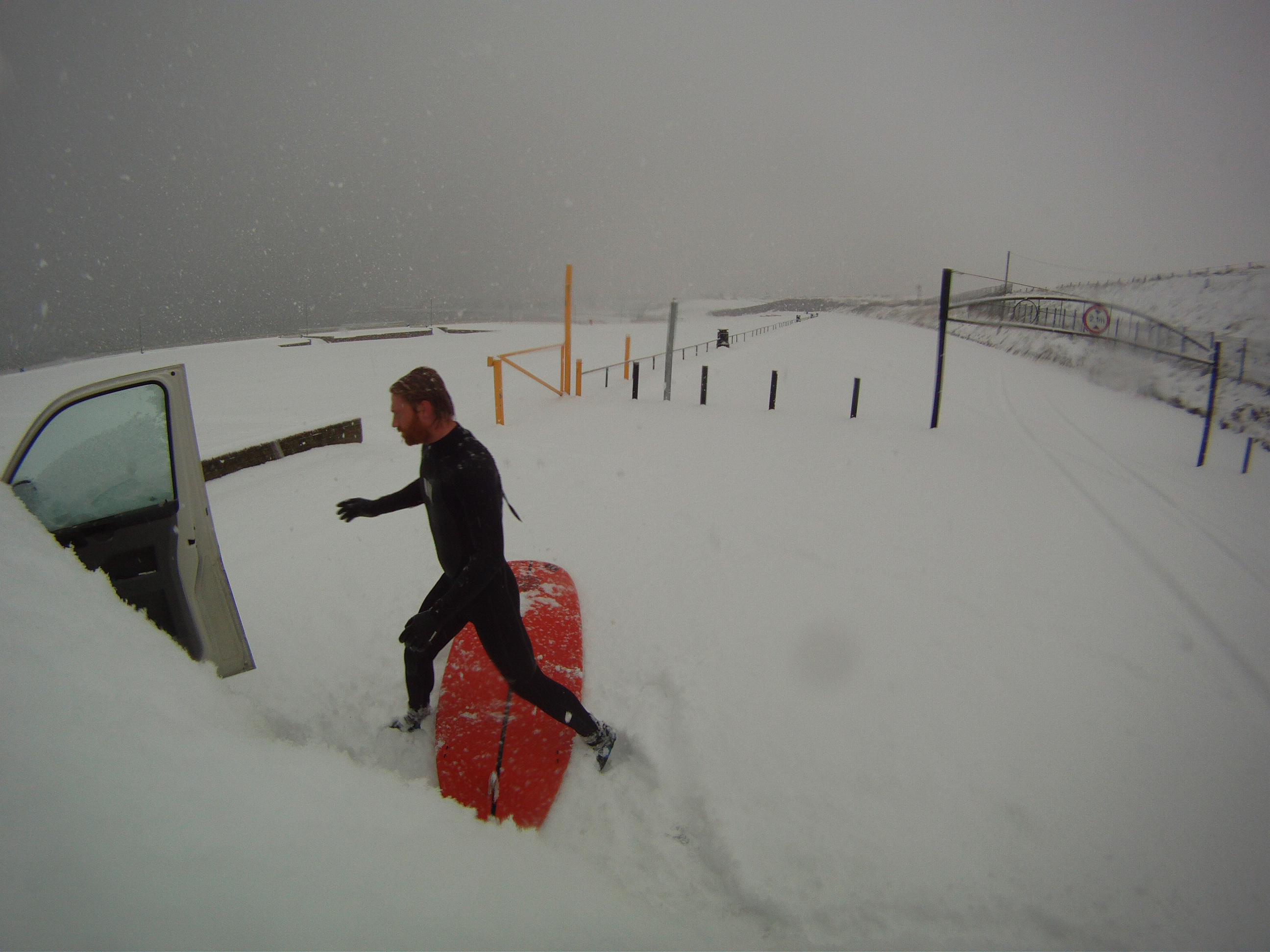Surfing In The Snow At Portrush Al Mennie Surf