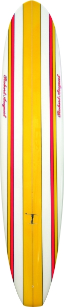 "9'6"" What I Ride White Yellow Red Stripes BL PL (Polyester) - PU0007"