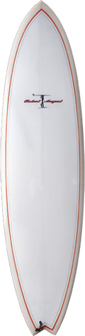 "7'6"" Traveler Clear Red PL Tri Poly - PU0126"