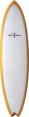 "7'0"" Traveler Yellow Bottom Clear Deck Poly - PU0127"