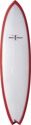 "6'6"" Traveler Red Bottom/Cl Deck Tro Poly - PU0128"